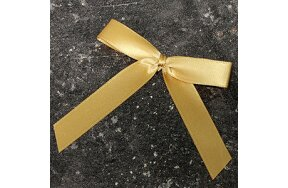 DECOR-CARD BOWS WITH CLIPBAND GOLD SET/20